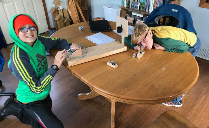 Day 445 – Thankful for Seeing My Boys' Project Creativity InAction