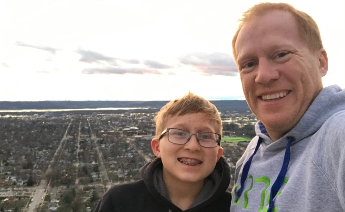 Day 933 – Thankful for Hanging with Dominic and Making the Best of aMistake