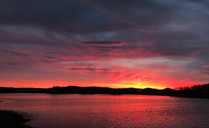 Day 966 – Thankful for a Ridiculously Beautiful Sunrise Over the Black River